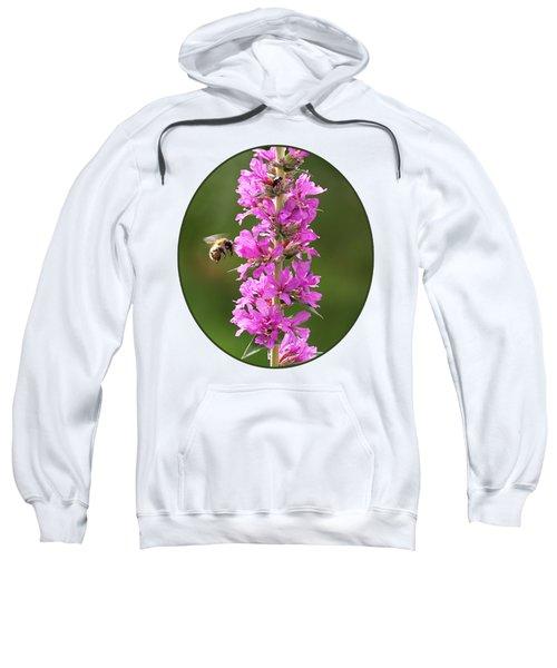 Final Approach - Bee On Purple Loosestrife Sweatshirt
