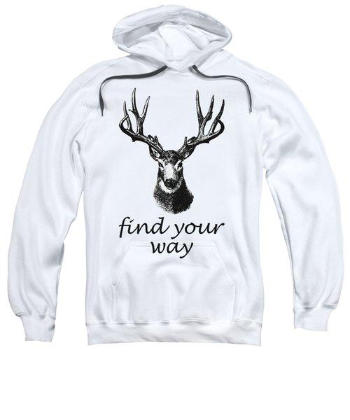 Find Your Way Sweatshirt by Magdalena Raszewska