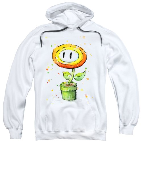Fireflower Watercolor Sweatshirt by Olga Shvartsur