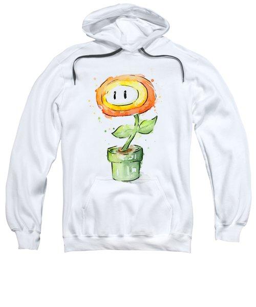 Fireflower Watercolor Painting Sweatshirt