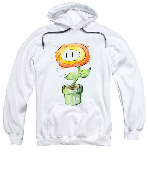 Fireflower Watercolor Painting Sweatshirt
