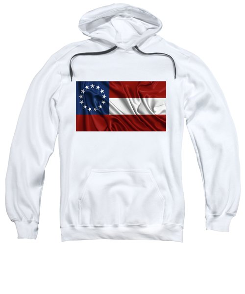 First Flag Of The Confederate States Of America - Stars And Bars 1861-1863 Sweatshirt