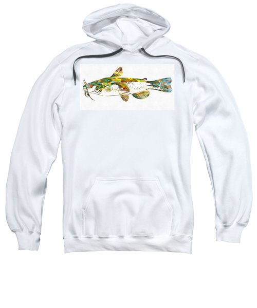 Fish Art Catfish Sweatshirt by Dan Sproul