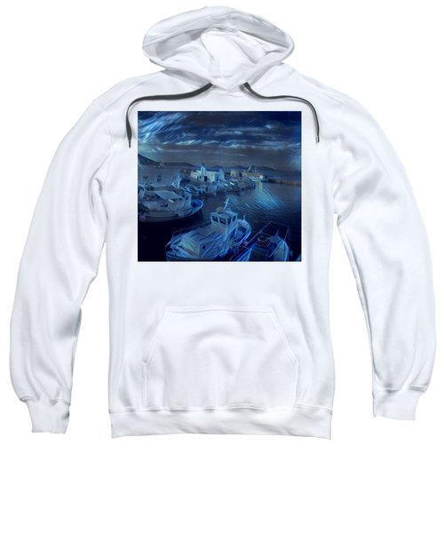 Fish Harbour Paros Island Greece Sweatshirt