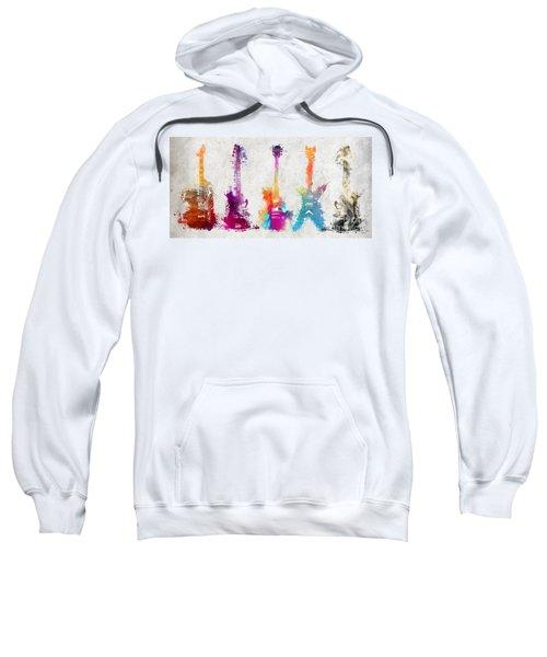 Five Colored Guitars Sweatshirt
