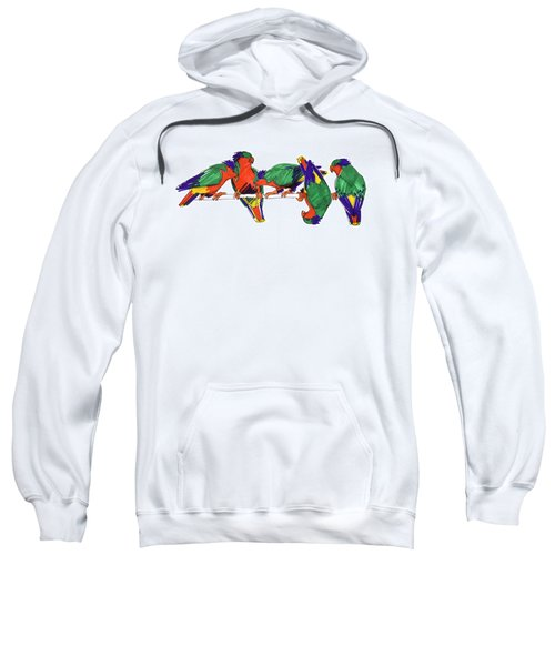 Five Rimatara Lorikeets Sweatshirt