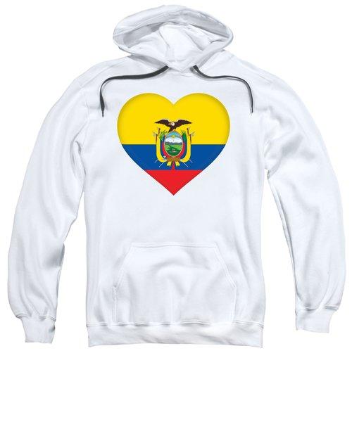 Flag Of Ecuador Heart Sweatshirt