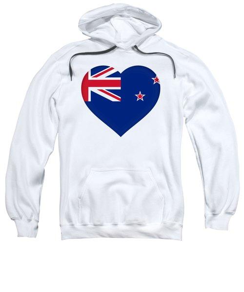 Flag Of New Zealand Heart Sweatshirt