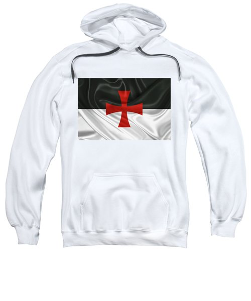 Flag Of The Knights Templar Sweatshirt by Serge Averbukh