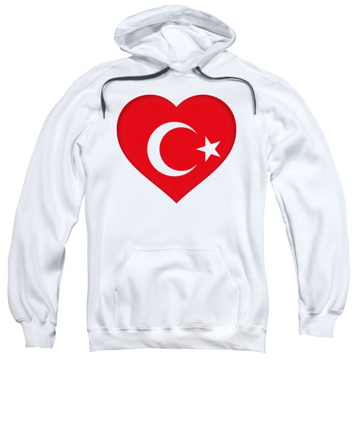 Flag Of Turkey Heart Sweatshirt by Roy Pedersen