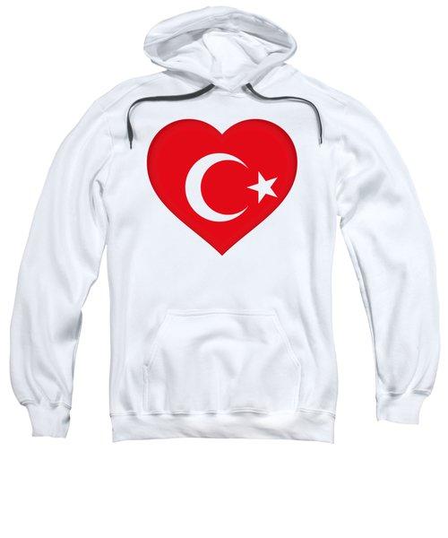 Flag Of Turkey Heart Sweatshirt