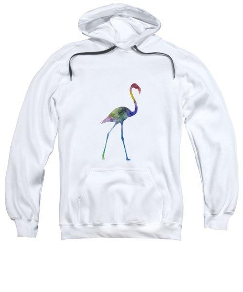 Flamingo 01 In Watercolor Sweatshirt