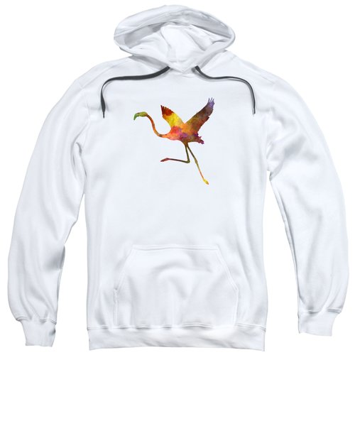 Flamingo 02 In Watercolor Sweatshirt by Pablo Romero