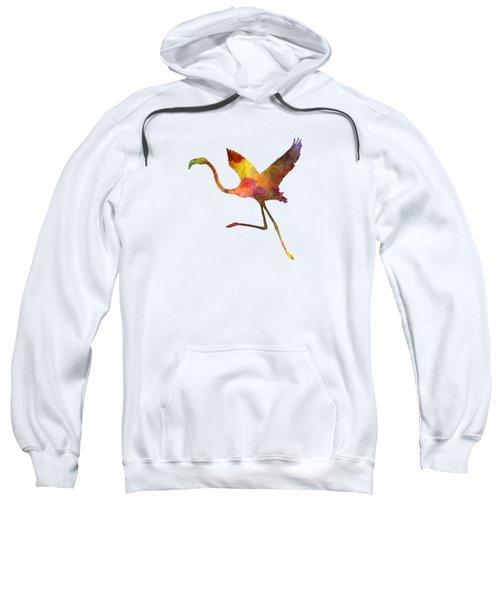 Flamingo 02 In Watercolor Sweatshirt