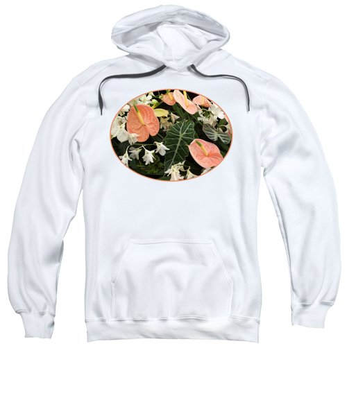 Flamingo Flowers And Orchids Sweatshirt by Gill Billington