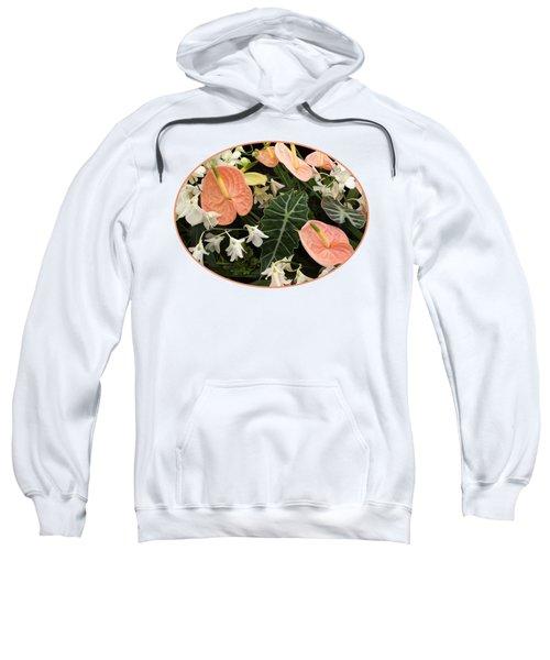 Flamingo Flowers And Orchids Sweatshirt