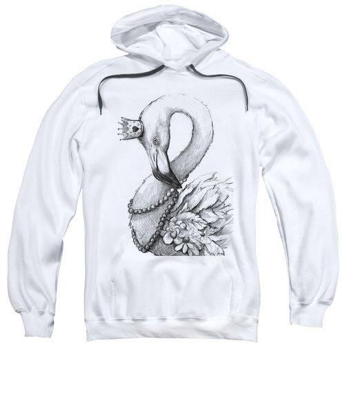 Flamingo In Pearl Necklace Sweatshirt