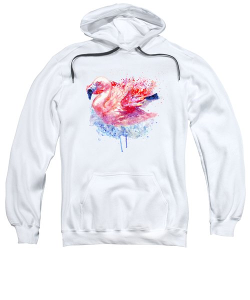 Flamingo On The Water Sweatshirt by Marian Voicu