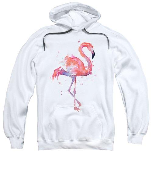 Flamingo Watercolor Facing Right Sweatshirt