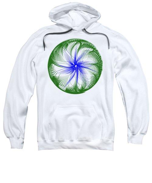 Floral Web - Green Blue By Kaye Menner Sweatshirt by Kaye Menner