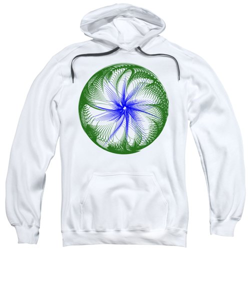 Floral Web - Green Blue By Kaye Menner Sweatshirt