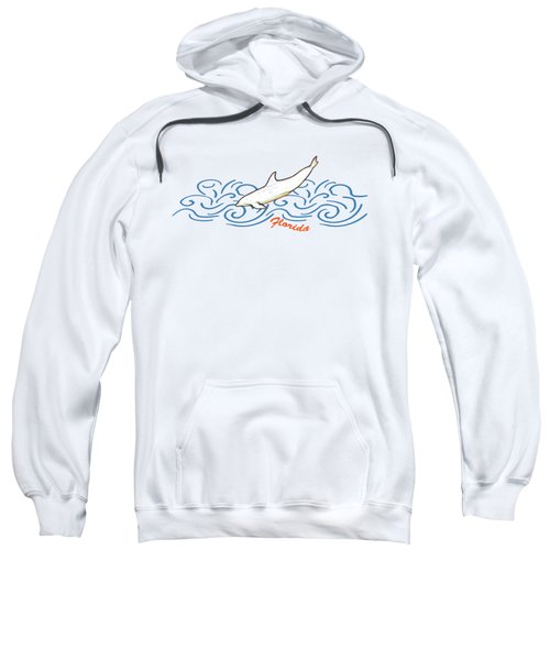 Florida Dolphin Print Sweatshirt by Methune Hively