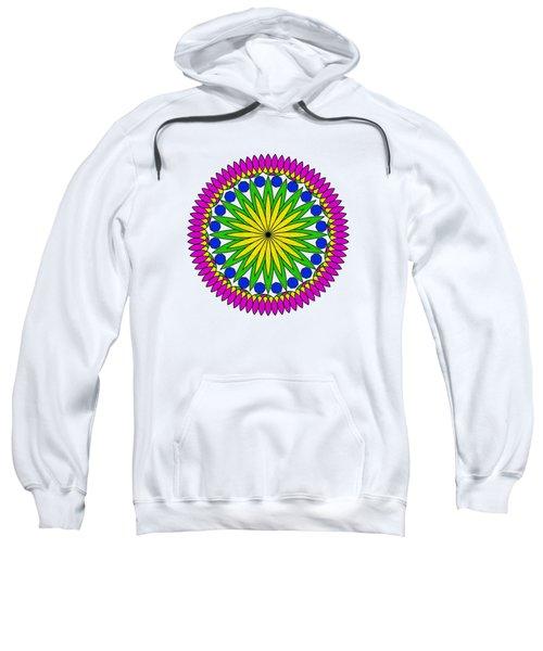Flower Mandala By Kaye Menner Sweatshirt by Kaye Menner