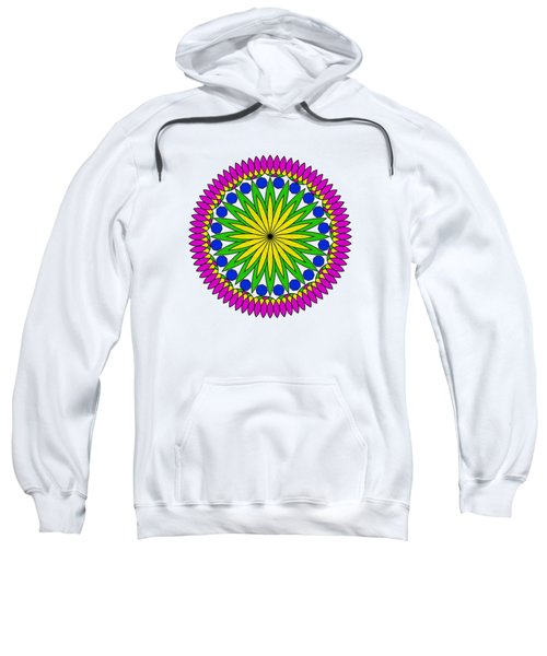 Flower Mandala By Kaye Menner Sweatshirt