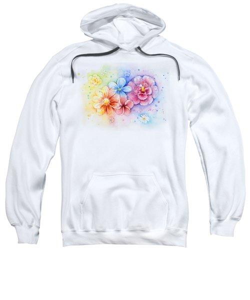 Flower Power Watercolor Sweatshirt