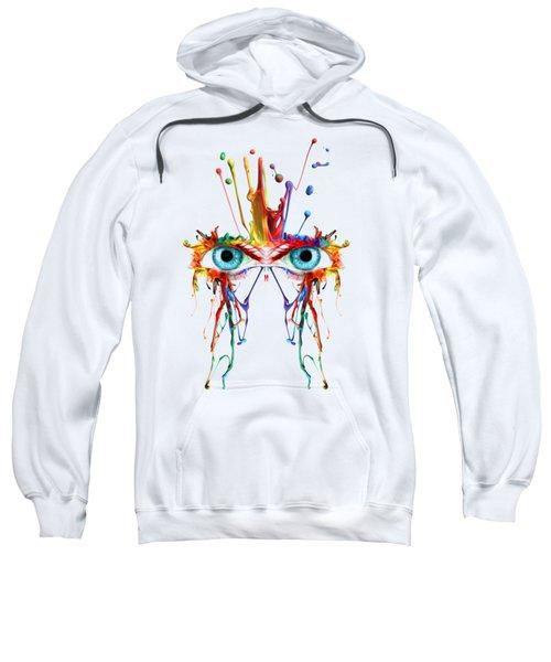 Fluid Abstract Eyes Sweatshirt