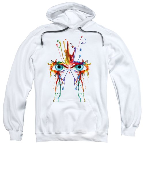 Fluid Abstract Eyes Sweatshirt
