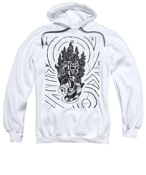 Flying Castle Sweatshirt by Sotuland Art