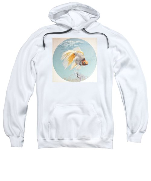 Flying In The Clouds Of Goldfish Sweatshirt by Chen Baoyi
