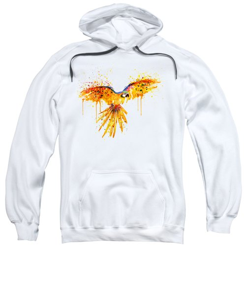 Flying Parrot Watercolor Sweatshirt by Marian Voicu