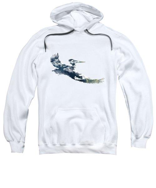 Flying Pelican Sweatshirt by Diana Van