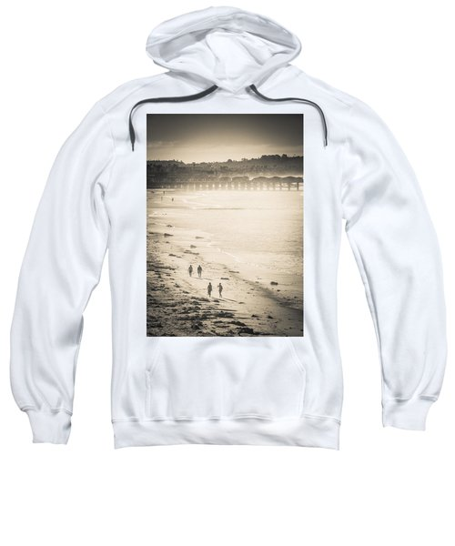 Foggy Beach Walk Sweatshirt