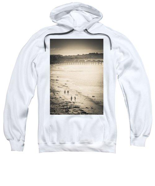 Foggy Beach Walk Sweatshirt