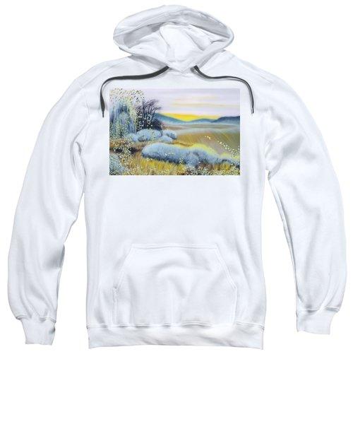 Foggy Dawn Through Window Sweatshirt