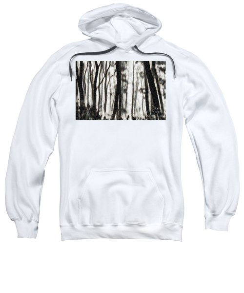 Foggy Forest Tree Paint Sweatshirt