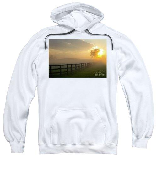 Foggy Pasture Sunrise Sweatshirt