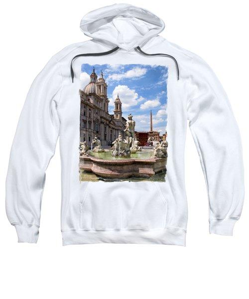 Fontana Del Moro.rome Sweatshirt by Jennie Breeze