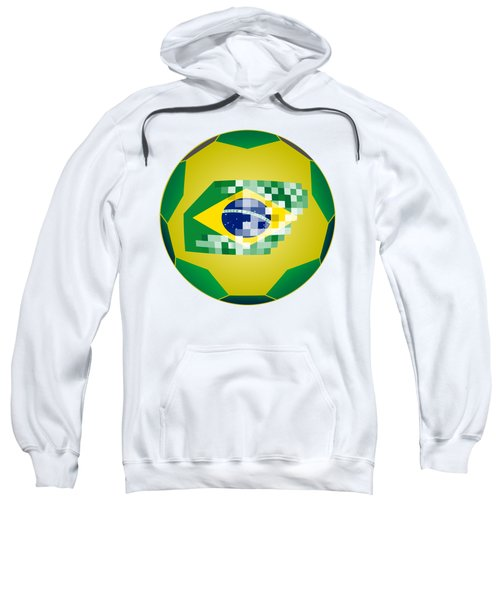 Football Ball With Brazil Flag Sweatshirt