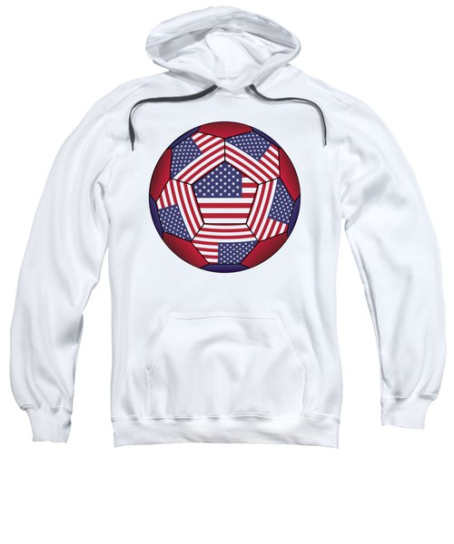 Football Ball With United States Flag Sweatshirt