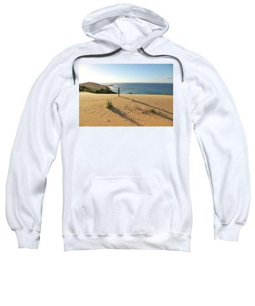 Footprints In The Sand Dunes Sweatshirt