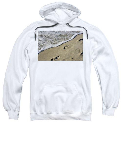 Footprints On The Beach Sweatshirt