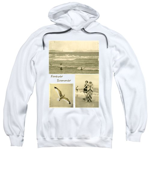 Sweatshirt featuring the photograph Forever Summer 3 by Linda Lees