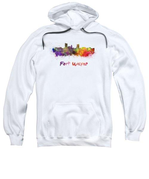 Fort Wayne Skyline In Watercolor Sweatshirt