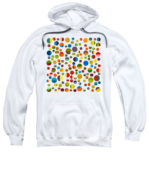 Sweatshirt featuring the digital art Found My Marbles 3.0 by Michelle Calkins