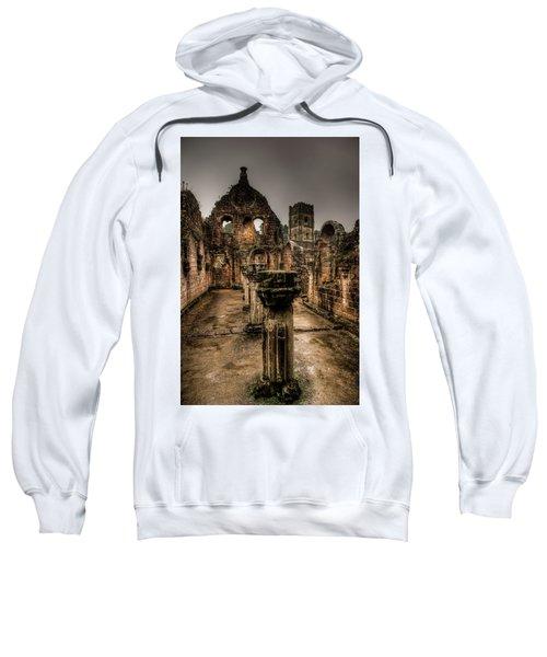 Fountains Abbey In Pouring Rain Sweatshirt