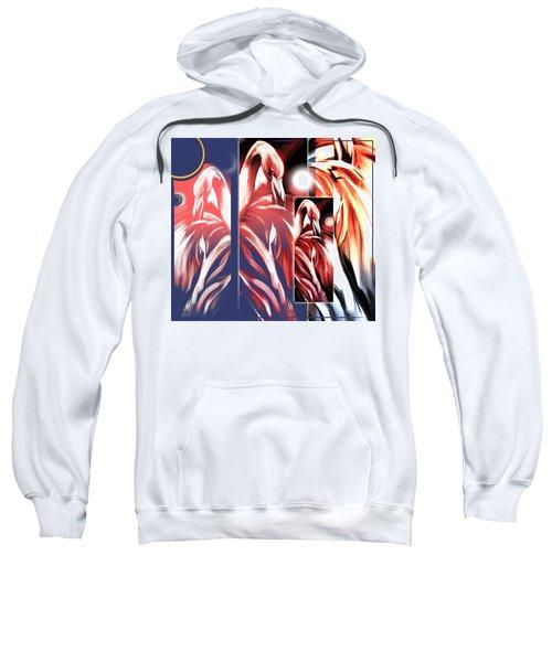 Four Flamingos Sweatshirt